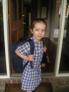 leaving for school
